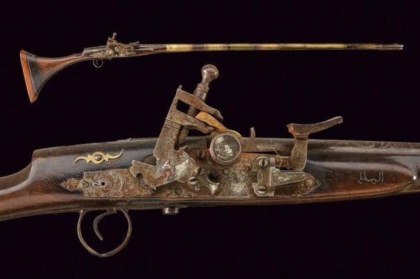 Flintlock moukhala snaphaunce musket originating from North… – Antiques