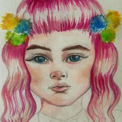 Pink haired cutey pie being hatched #art #drawing #illustration #portrait #painting #perthartist #artwork #perthcreatives #comic #cartoon
