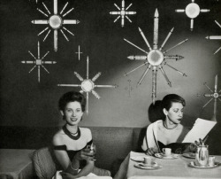 danismm:  Women dining in the Dining Room SS United States 1950's