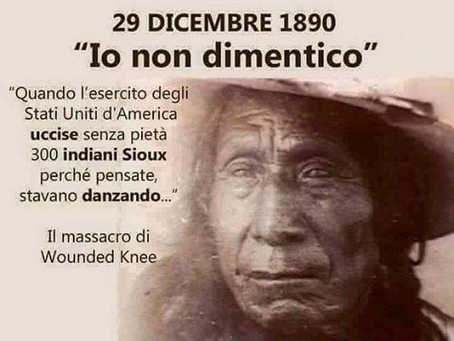"""goodbearblind: """"29-12-1890 – Vogliamo ricordare lo sterminio di Wounded Knee: l'ultimo massacro di indiani – Quando gli indiani del capo Big Foot (Piede Grosso) sventolando, disarmati, una bandiera bianca furono MASSACRATI dal GLORIOSO esercito degli..."""