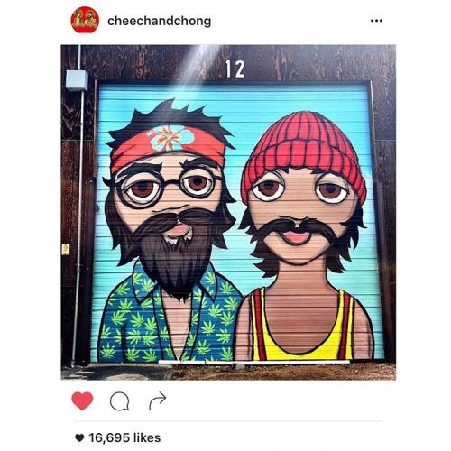 impermanent-art:  Thanks Cheech and Chong for reposting my photo of this Jeremy Charles Burns mural in Denver.