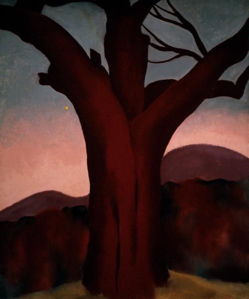 "georgia-okeeffee: ""Autumn Trees - Chestnut Tree via Georgia O'Keeffe """