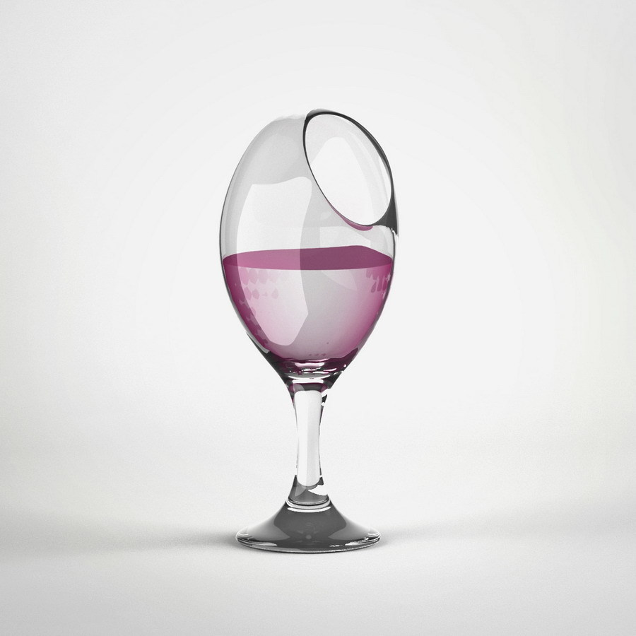 uncomfortable wine glass © 2012 Katerina Kamprani - all rights reserved