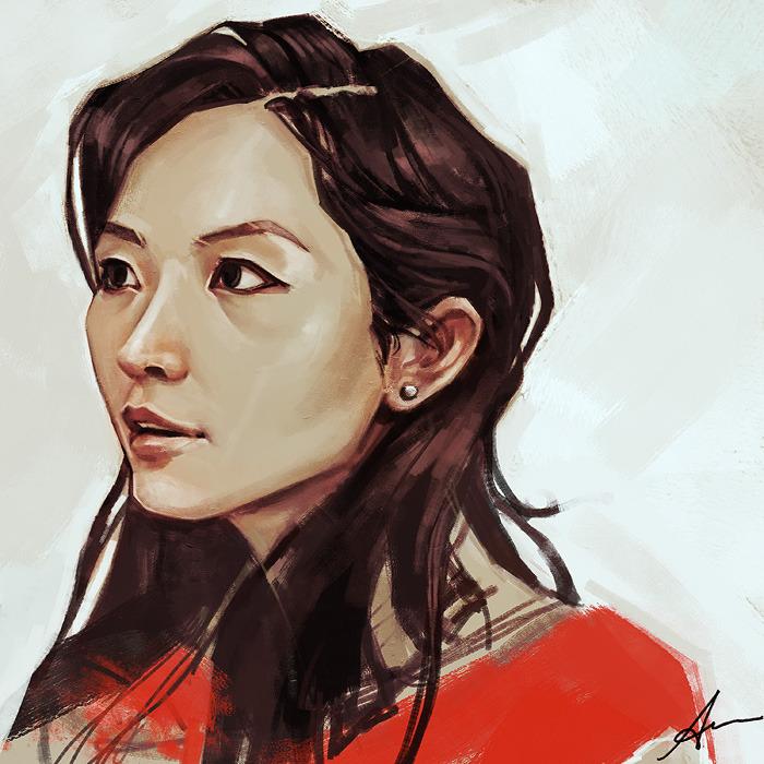 Alice X Zhang More Random Portrait Practice This Is My