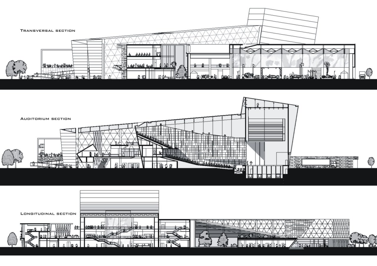 Architecture Section Elevation Faro Loule