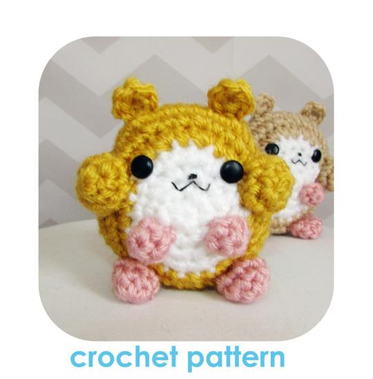 crochet hamster amigurumi pattern