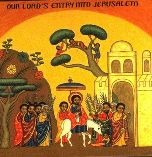 Image result for Palm Sunday Icon
