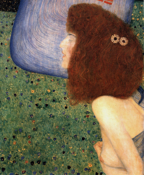 "23rd-block: "" Gustav Klimt, Girl With Blue Veil, 1902. """