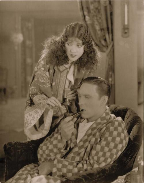Olive Borden and George O'Brien in Fig Leaves