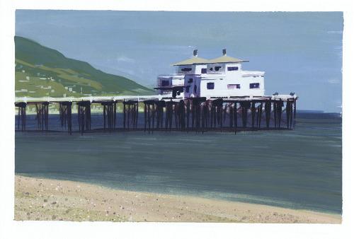 nomadsdraw:Malibu Pier.Artist: Craig Harris