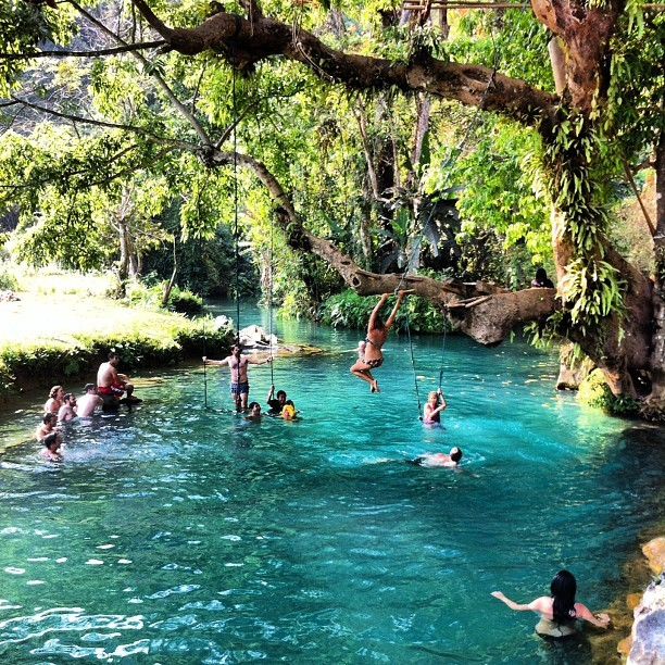 The Blue(est) Lagoon: When you need a break from tubing in Vang Vieng