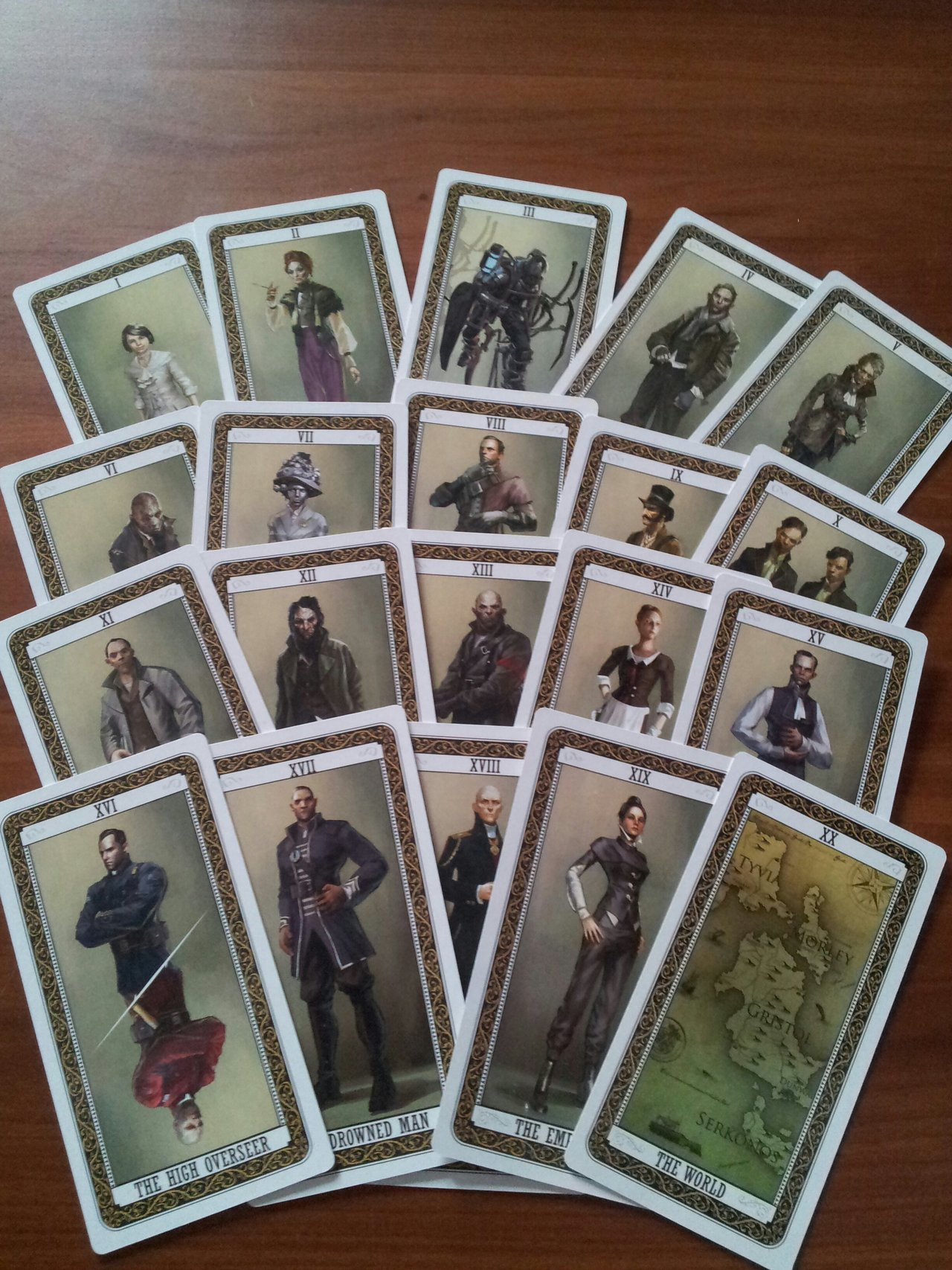 DISHONORED TAROT DECKPLAYING CARDS PHOTOSET One On
