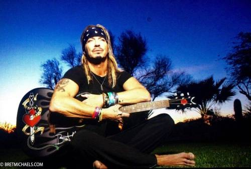 Bret Michaels still from the Unbroken video shoot.