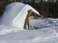 Ski hut along the way