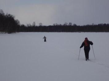Crossing the lake with Nana
