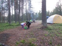First night camping outside Pallas Yllestunturni National Park