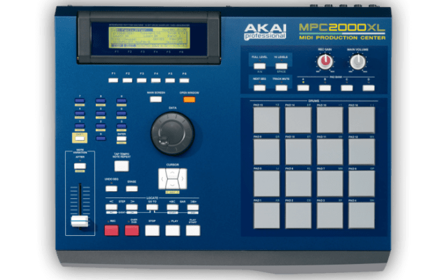 Akai MPC (Music Production Center) 2000 XL top view