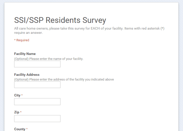 SSI/SSP Survey