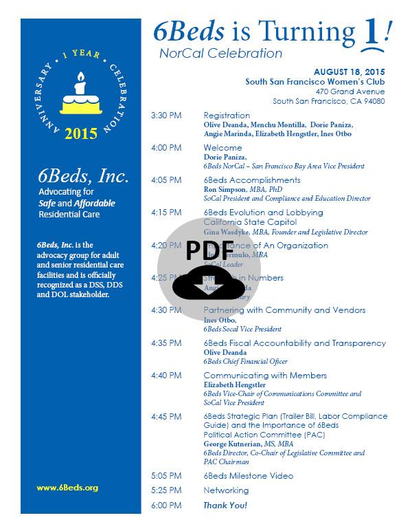 20150818---NorCal---1-Year-Celebration---Program
