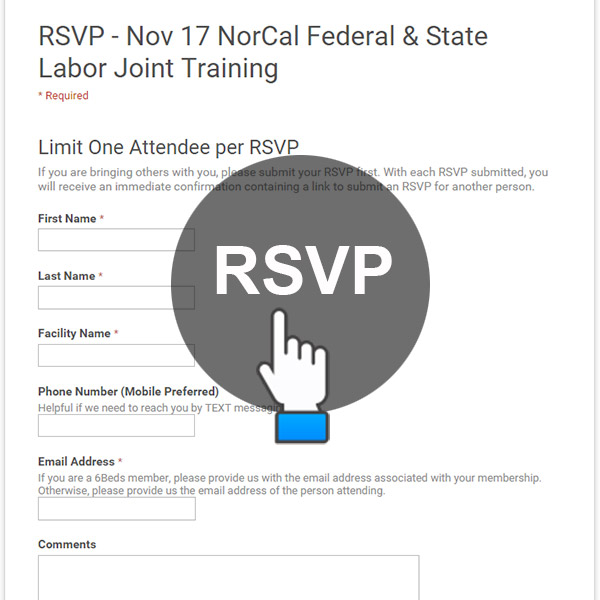 RSVP Nov 17 - NorCal Federal & State Labor Joint Training