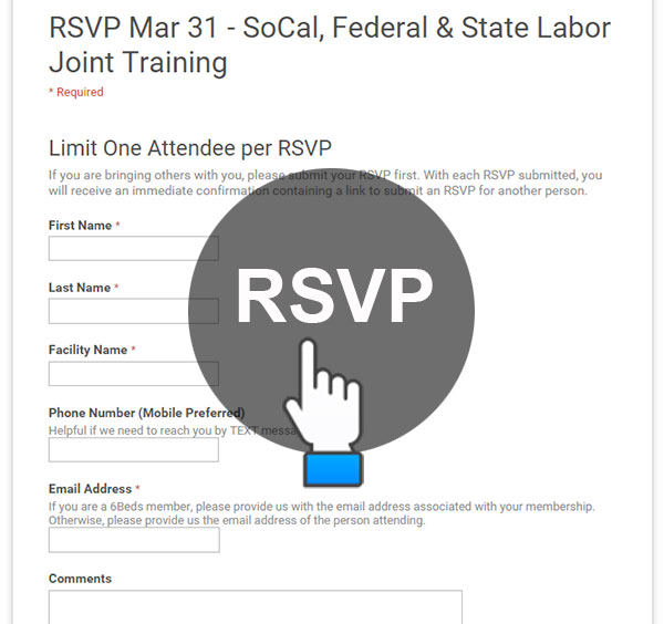 Click to RSVP Mar 31 - SoCal, Federal & State Labor Joint Training