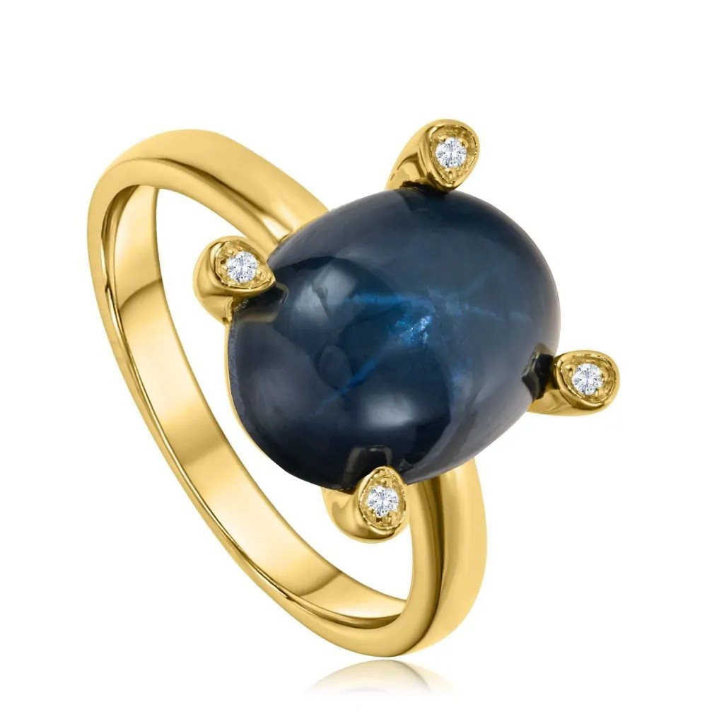 Star Stone gold ring
