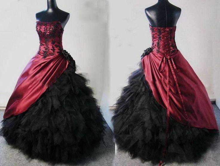 2016 Cheap Elegant Gothic Wedding Dresses Vestidos De