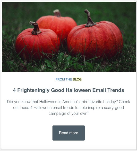 Clear example of email content