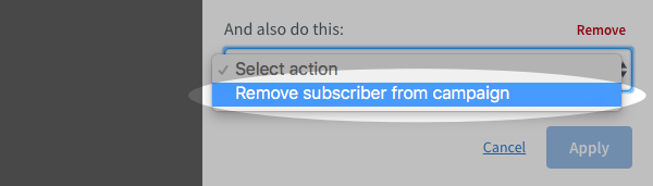Remove a subscriber.