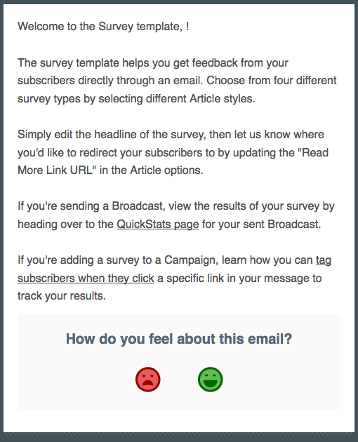 Our new survey template!