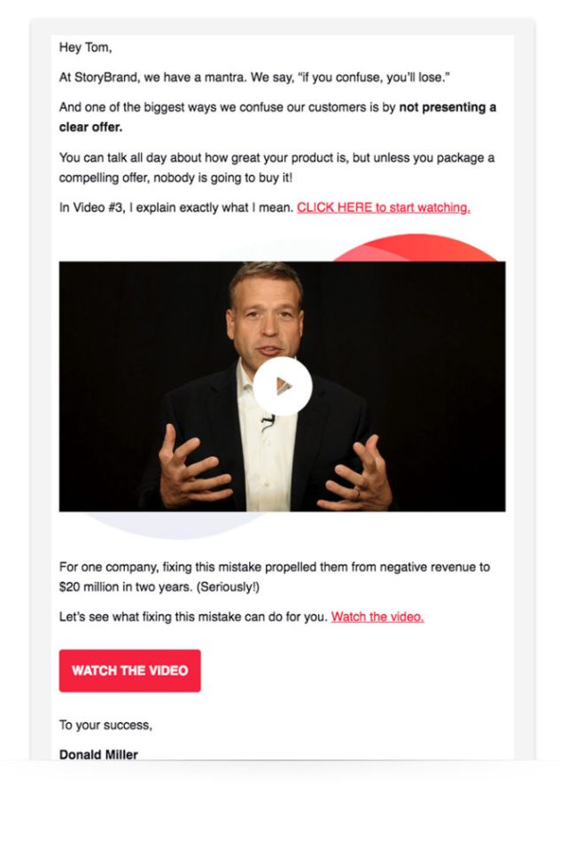 Video email example.