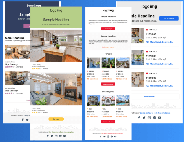 Examples Real Estate email templates