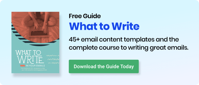 Download AWeber's free what to write in your emails guide