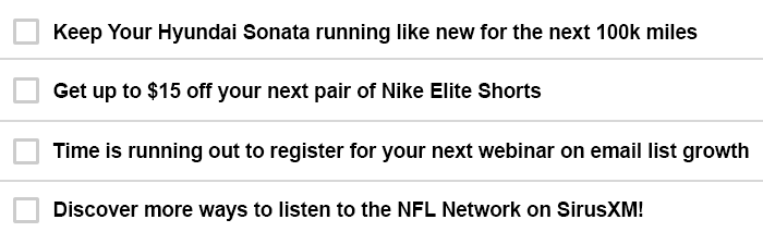 Exciting subject line examples using personalization