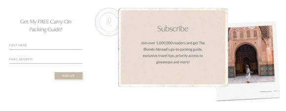 get email subscribers with giveaways