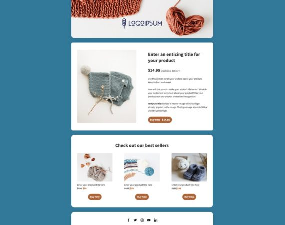 ecommerce landing page template