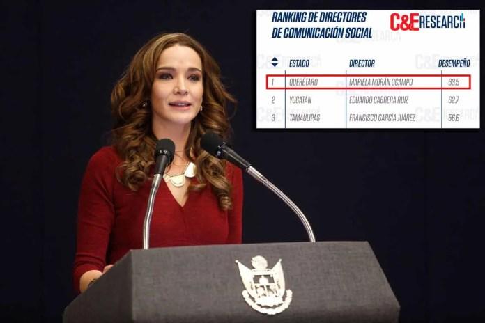 Es Mariela Morán, de Querétaro, primer lugar en Ranking de Directores de Comunicación Social de Campaigns&Elections