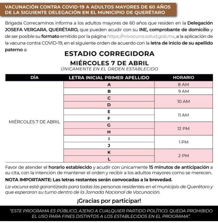 Mañana vacuna para delegaciones Félix Osores, Centro Histórico y Josefa Vergara, aquí los lugares y horarios