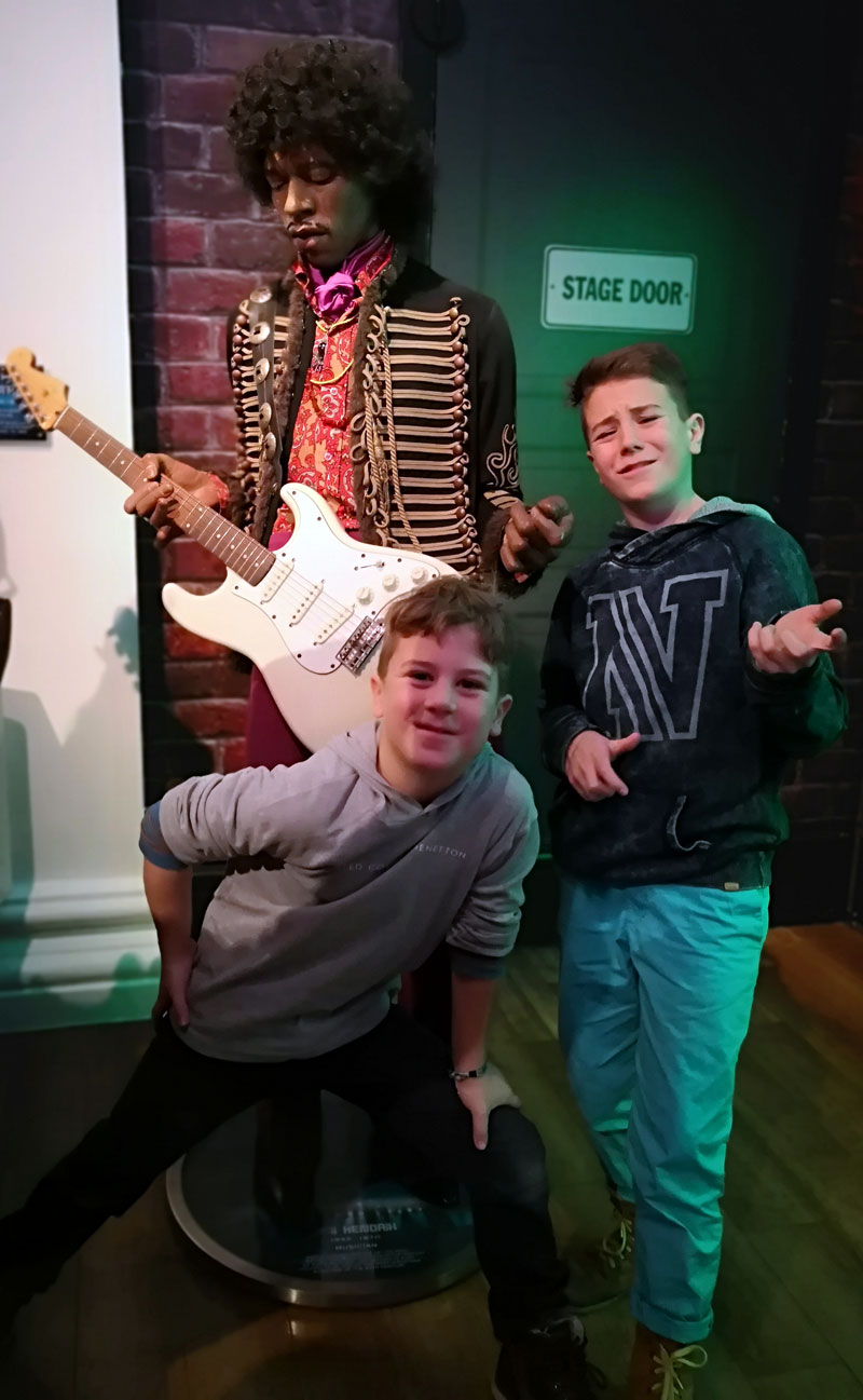 Bei Madame Tussauds in London - Jimi Hendrix