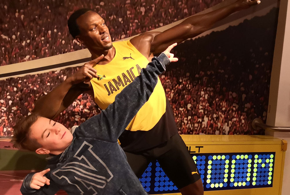 Bei Madame Tussauds in London - Usain Bolt