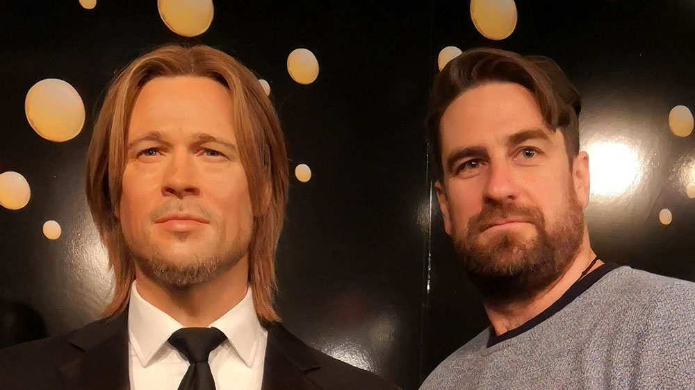 Bei Madame Tussauds in London - Brad Pitt