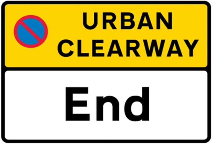 urban clearway sign
