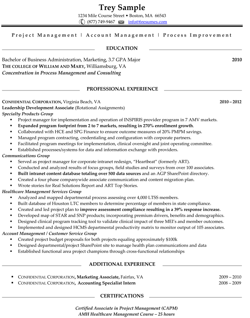 Page Sample 1 Page Resume. Newsound.co