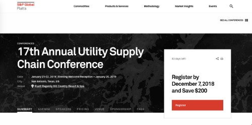 17th Annual Utility Supply Chain Conference
