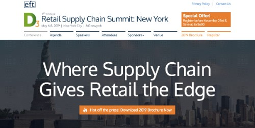 4th Annual D3 Retail Supply Chain Summit: New York