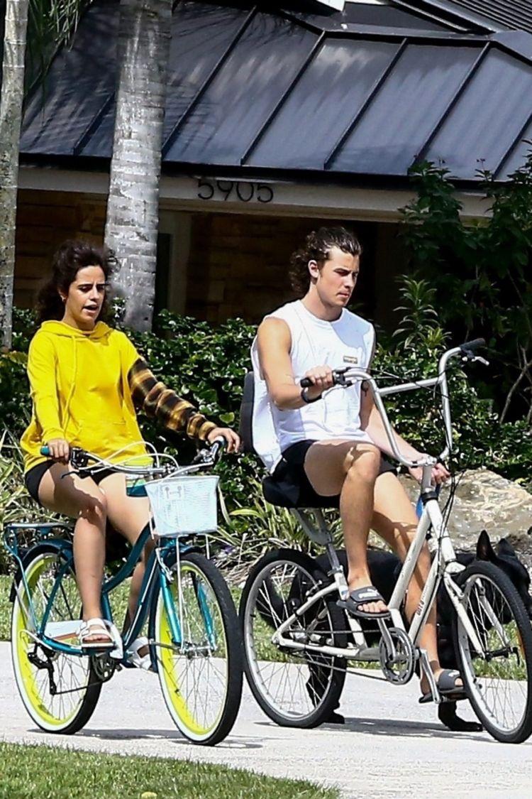 Camila Cabello Enjoy Riding A Bicycle In Miami