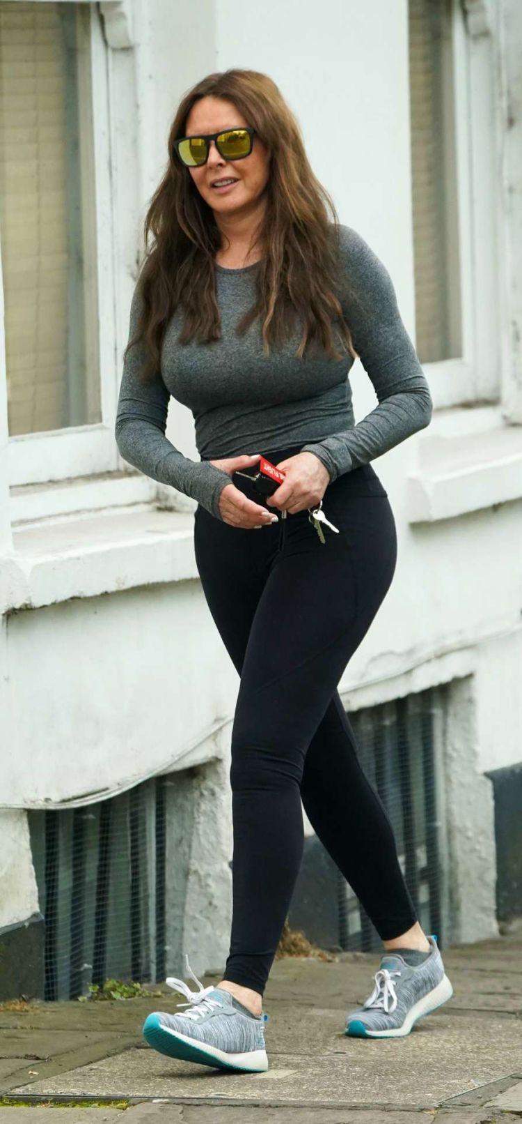 Carol Vorderman Heading To Her Gym In Bristol