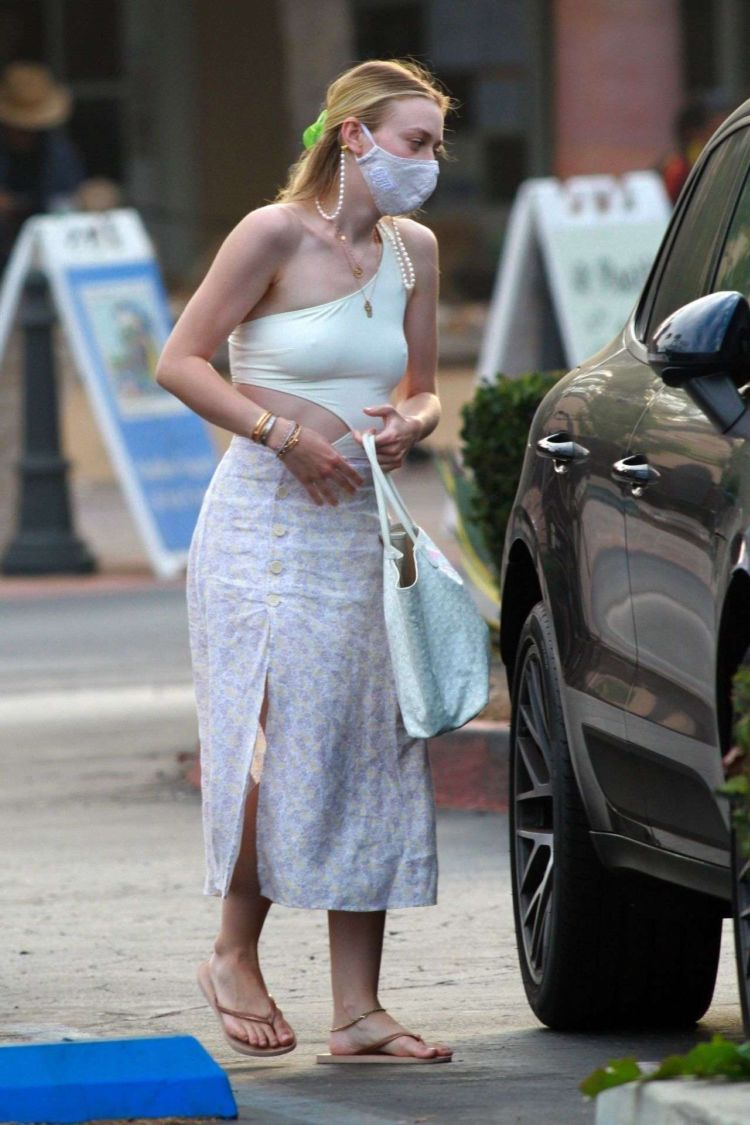 Dakota Fanning Spotted Going Out With Friends In Malibu