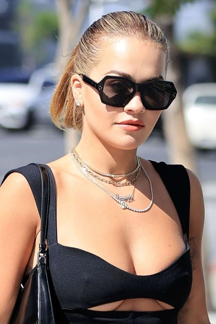 Rita Ora Spotted In Black Outfit Out In Los Angeles