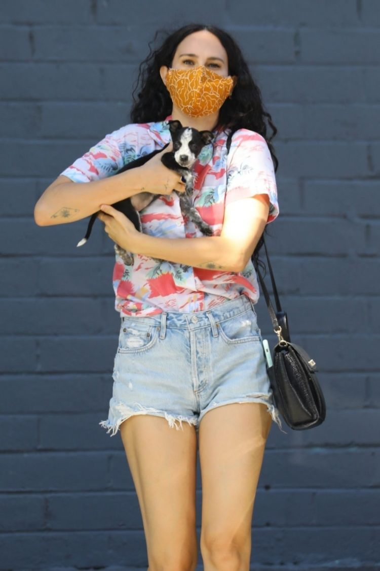 Rumer Willis Visits Healthy Spot Pet Shop With Her Puppy In Los Angeles